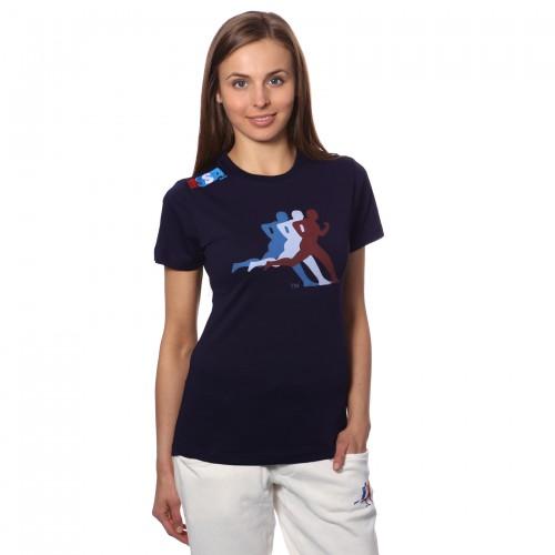 T-shirt cagliari blu