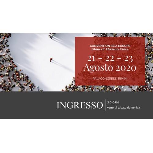 Convention ISSA Europe 2020 - Pass 3 giorni