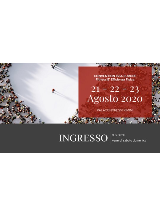 Convention ISSA Europe 2020 - Pass 3 giorni